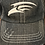 Thumbnail: Adjustable Trucker Cap - Distressed Black Denim with Seahawk