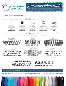 Monogram and color guide