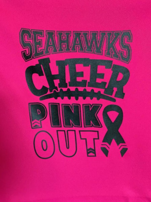Seahawks Pink Out Cheer Youth& Adult
