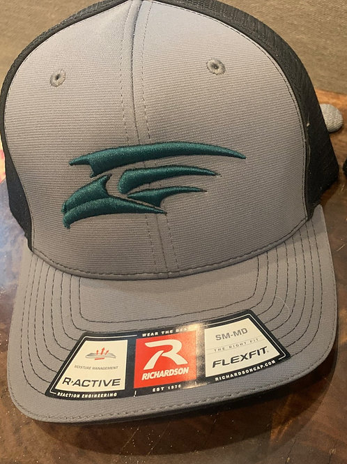 Fitted Richardson Cap - Gray with Green Seahawk