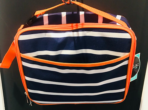 Orange and Navy Line Up Lunch Box