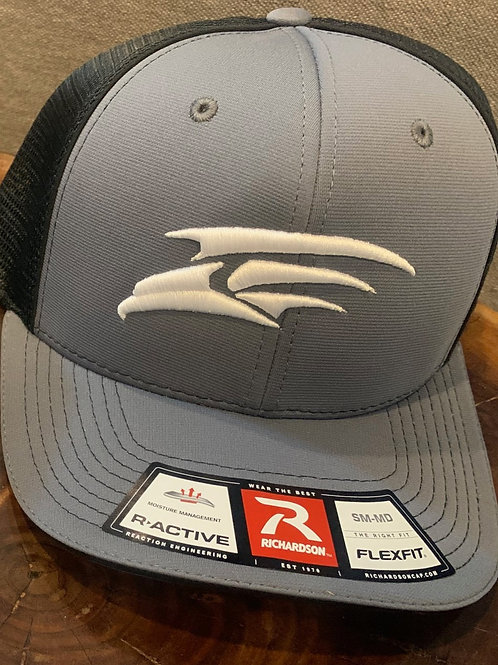 Fitted Richardson Cap - Gray with White Seahawk