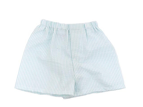 Seersucker boy shorts