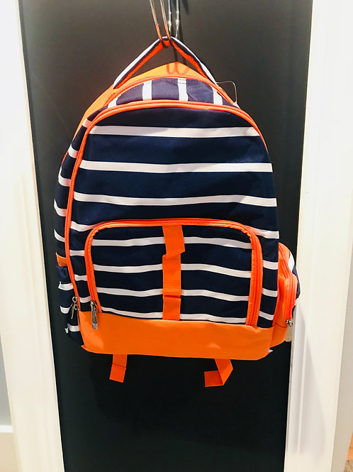 Orange and Navy Line up Backpack