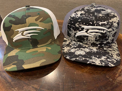 Adjustable Cap - Camo or Graffiti with White Seahawk