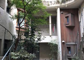 中庭のある賃貸住宅物件の視察