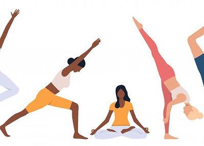 set-flexible-women-practicing-yoga_1262-