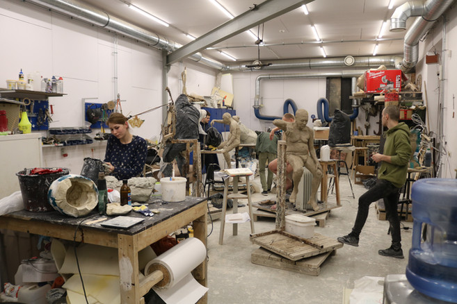 Workshop in the art academy of Lettland (Riga)