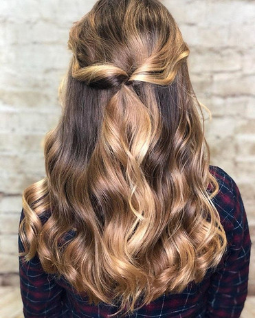 Beautiful simple style by Chandler _hair