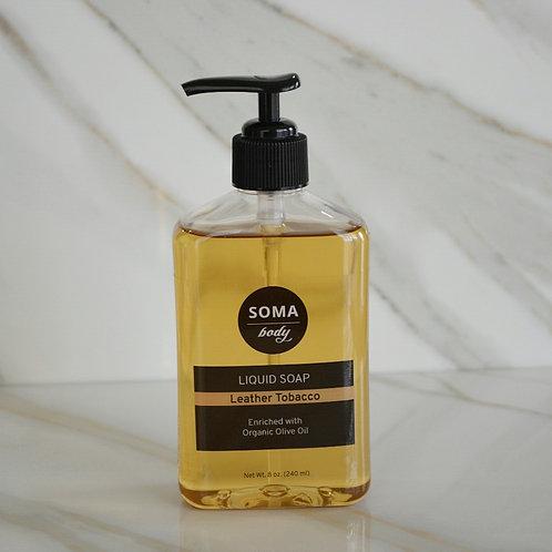 Leather Tobacco All Natural Liquid Soap