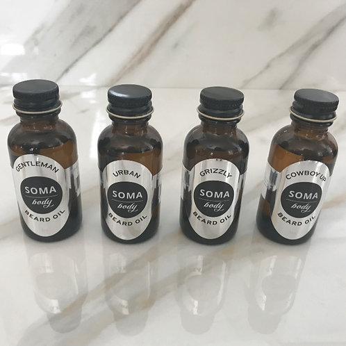 4 pack of Beard Oils