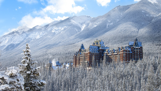 Fairmont Banff Springs Winter