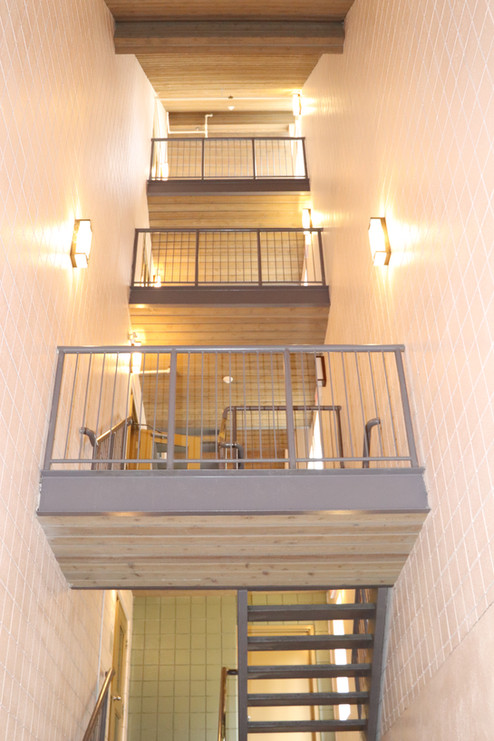 Staff Housing Building - Staircase