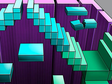 3D Digitaal Game of Stairs
