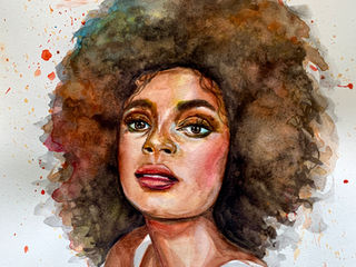 Original watercolor Lady