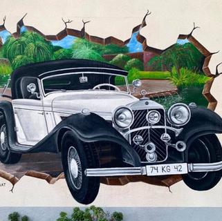 3D Mercedes mural