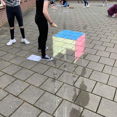 Buiten aan de slag met een 3D kubus