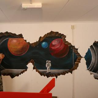 3D space mural