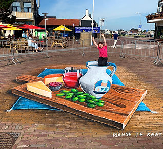 3D Street Painting Cheese Board