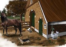 Schets Gertjan Rev2 paard voor het hek.j