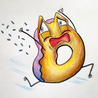 Scared donut