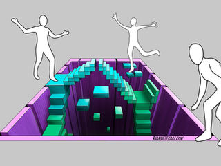 3D Digital design Game of Stairs