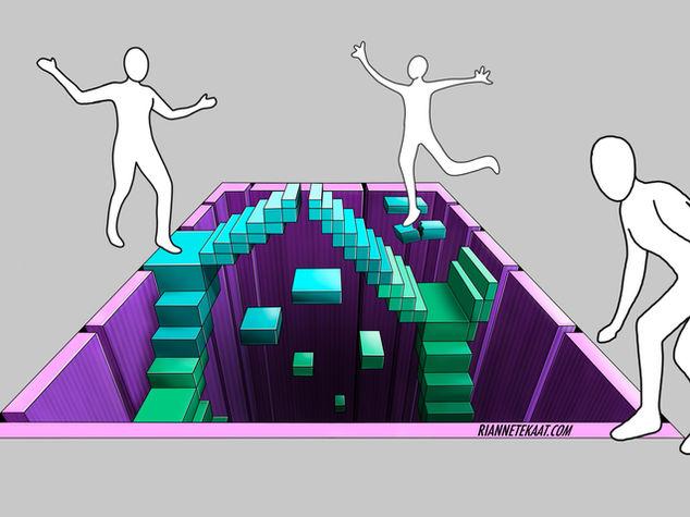 3D Digitaal ontwerp Game of Stairs