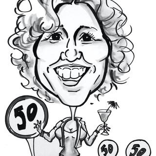 50th Birthday caricature