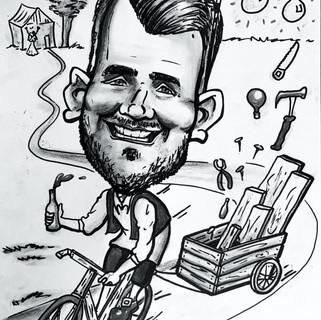 Bike caricature