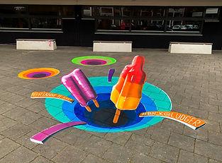 Street art ice cream