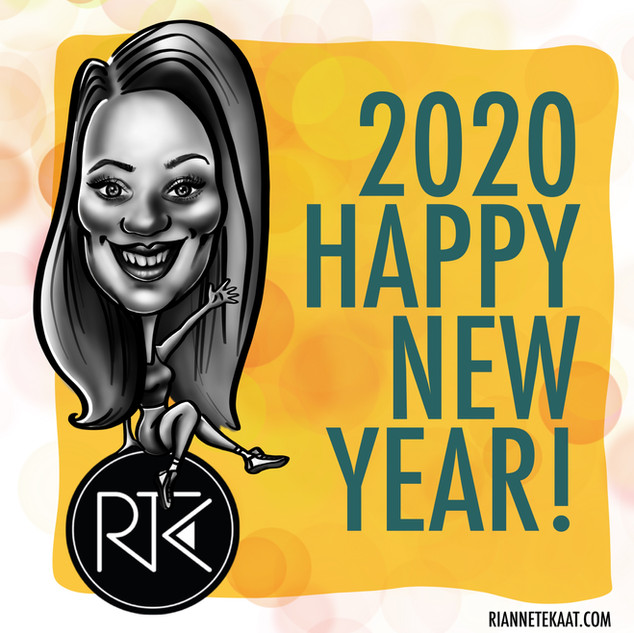 Happy New Year caricature