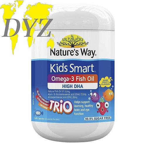 Natures Way Kids Smart Omega-3 Fish Oil Trio (180 Capsules)