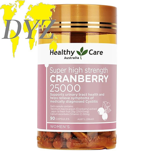 Healthy Care Super Cranberry 25000mg (90 Capsules)