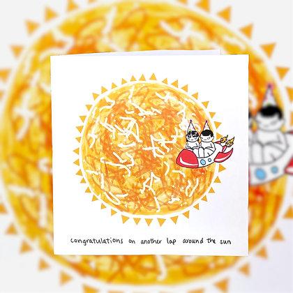 around the sun birthday card