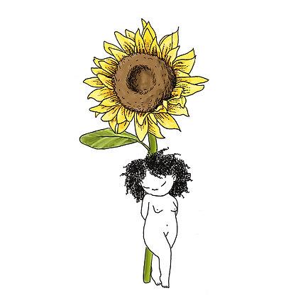 sunflower flower girl