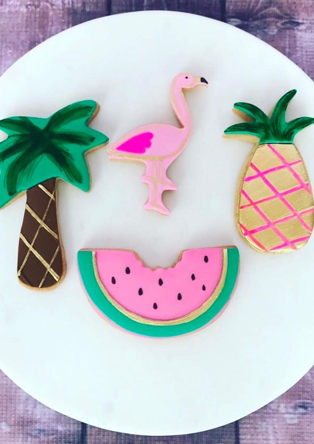 The Vanilla Rabbit Cookies Flamingo Palm Tree Summer Beach