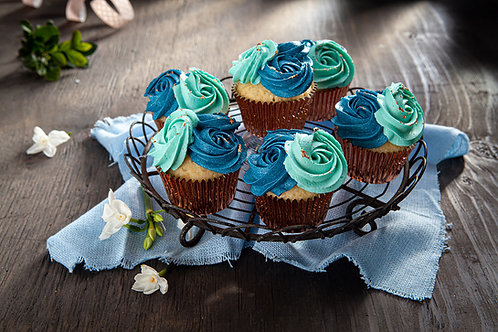 Cupcakes - Fancy Blue