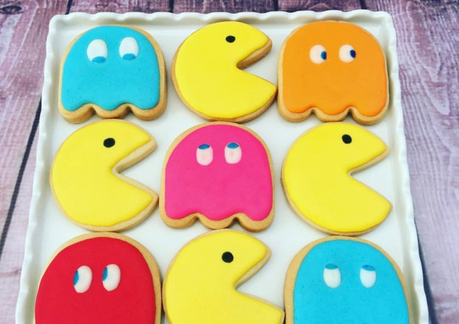 The Vanilla Rabbit Birthday Cookies Pacman