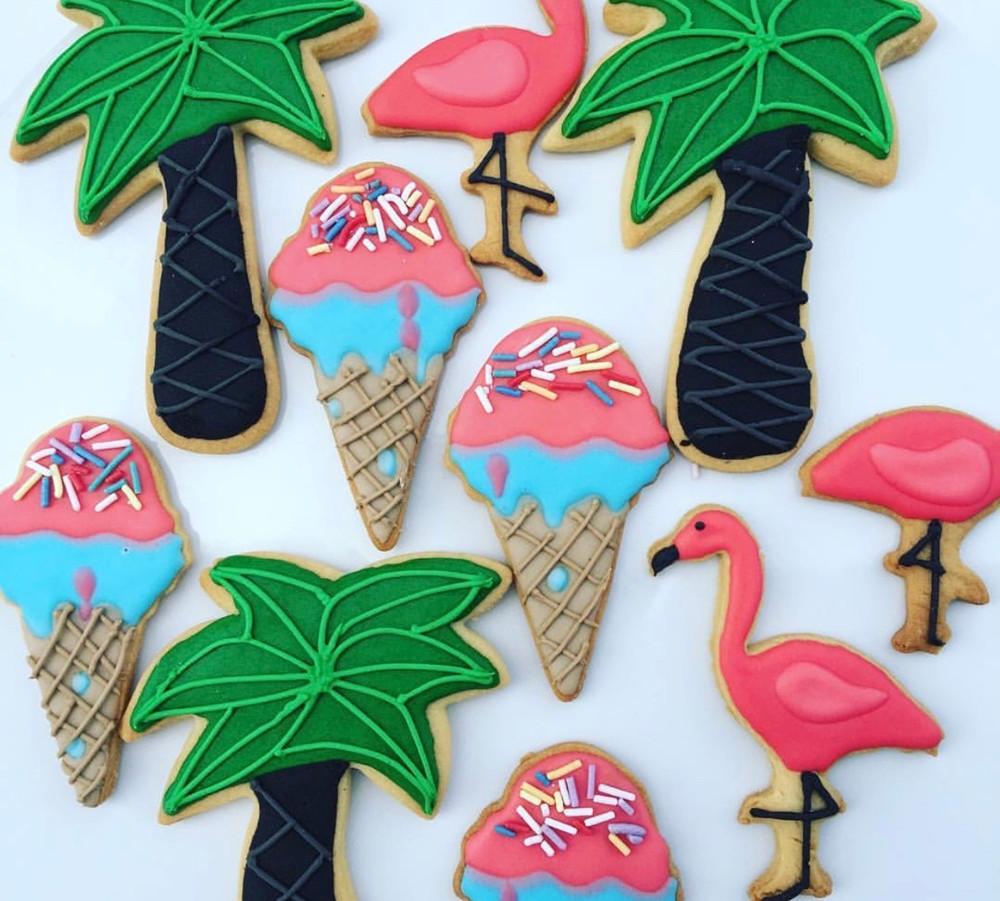 The Vanilla Rabbit Flamigo Cookies Summer Beach