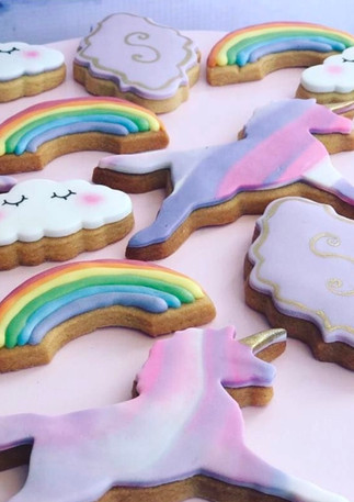 The Vanilla Rabbit Birthday Cookies Unicorn