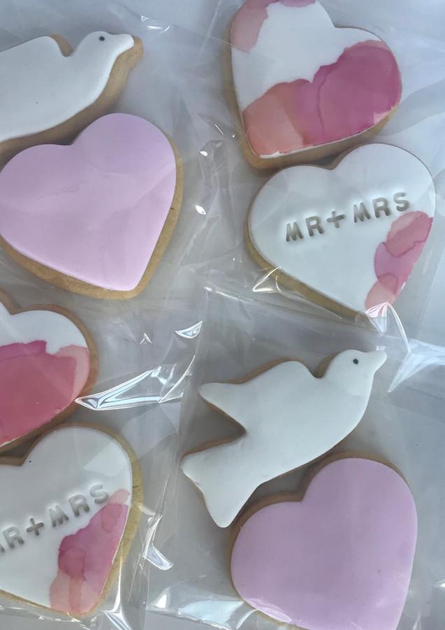 The Vanilla Rabbit Wedding Mr Mrs Cookies