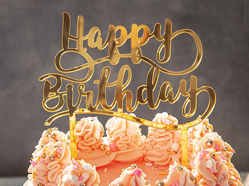 Cake Topper - Large Happy Birthday Topper