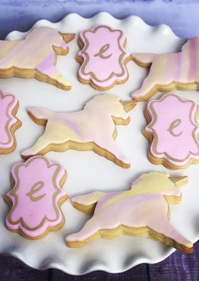 The Vanilla Rabbit Birthday Cookies Unicorn