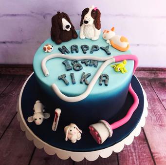 The Vanilla Rabbit Birthday Cake Vet and Animals