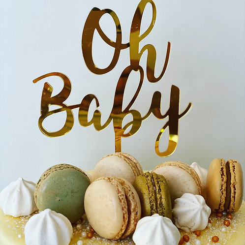 Cake Topper - Oh Baby