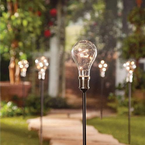 Solar Light bulb Garden Stake