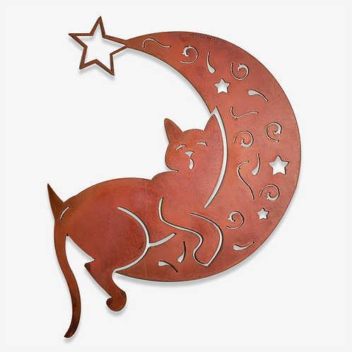 Cat on the Moon by Elizabeth Keith Designs