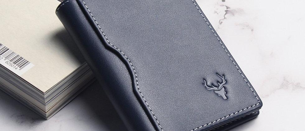 海軍 - Nox真皮簡約系列卡片夾 RFID防盜保護