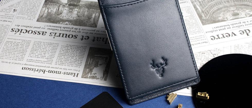海軍 - Herod 真皮皮革卡片及鈔票夾