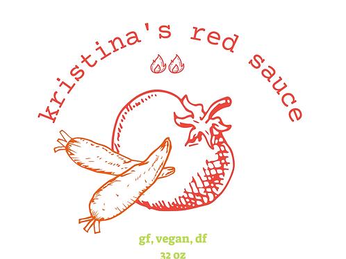 32 oz kristina's red sauce (gf, vegan, df)